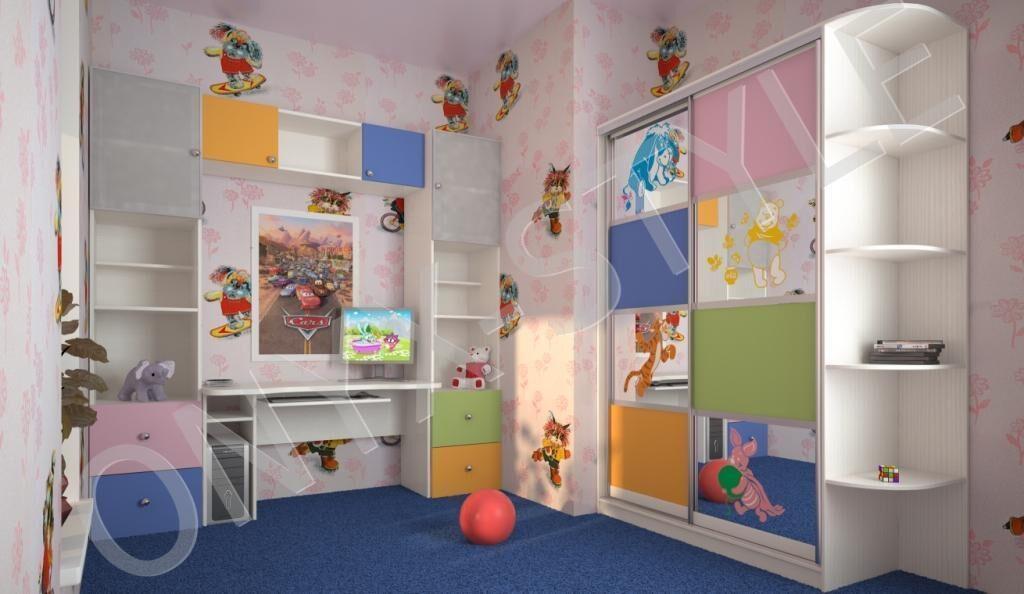 Шкаф купе в детскую, особенности и возможные материалы изгот.